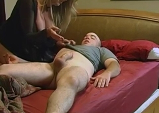 Big-boobed stepmom jerks off my hard prick