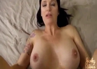 Big boobed sister nicely jumps on my hard dick