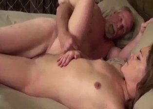 Slutty sister gets some jizz on the boobs