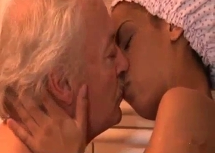 Sexy granddaughter is seducing a lustful grandpa