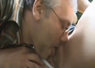 Filthy dad licks his daughter cunt in the forest
