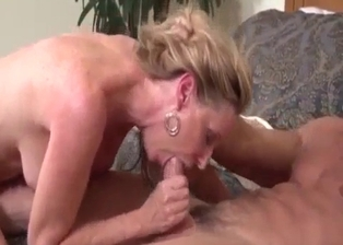Golden babe sucks a hard prick of her brother