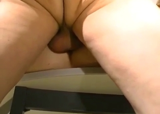 Golden daughter sensually swallows her dad dick